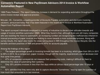 Corcentric Featured in New PayStream Advisors 2014
