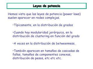 Leyes de potencia