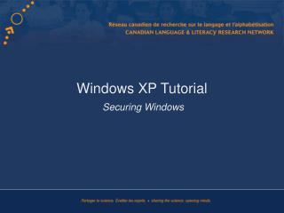 Windows XP Tutorial