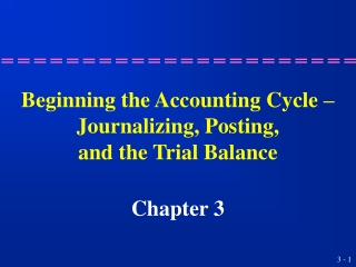 Chapter 8  Computerized Accounting Cycle