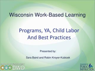 Wisconsin Work-Based Learning
