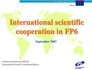 International scientific cooperation in FP6