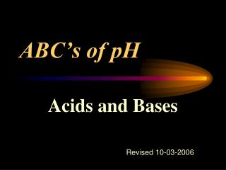 ABC's of pH