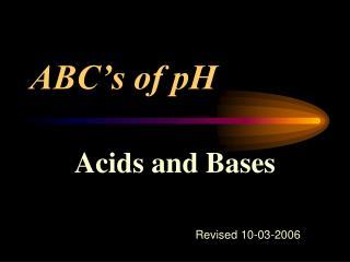 ABC's of pH