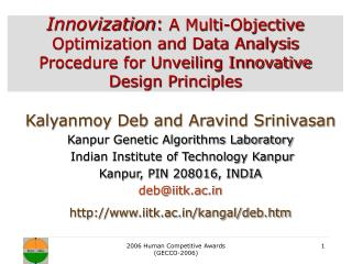 Innovization: A Multi-Objective Optimization and Data Analysis Procedure for Unveiling Innovative Design Principles
