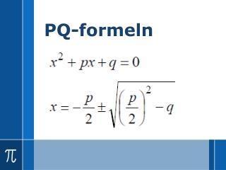 PQ-formeln