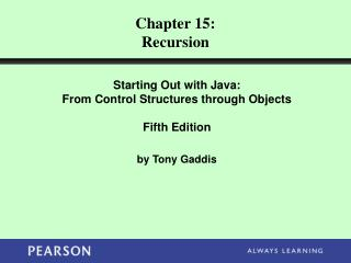 Chapter 15: Recursion