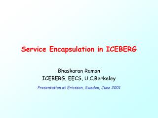 Service Encapsulation in ICEBERG