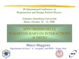 IX International Conference on Hypernuclear and Strange Particle Physics