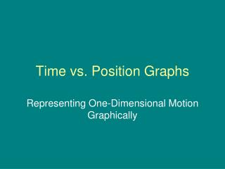 Time vs. Position Graphs