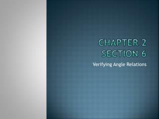 Chapter  2 Section 6