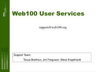 Web100 User Services