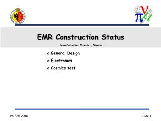 EMR Construction Status