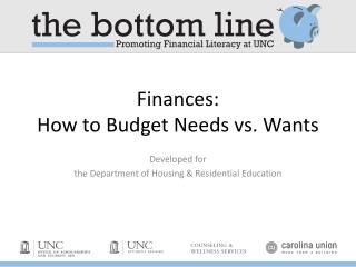 Finances:  How to Budget Needs vs. Wants
