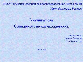 МБОУ Тесинская средняя общеобразовательная школа № 10