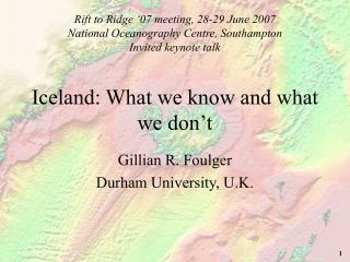 Iceland: What we know and what we don't