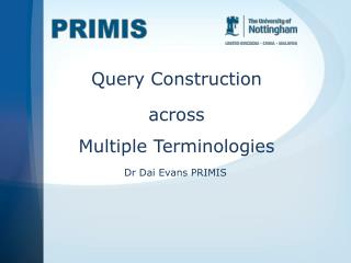 Query  Construction across Multiple Terminologies