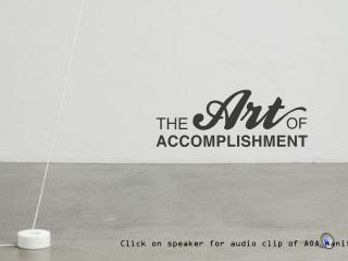 Click on speaker for audio clip of AOA manifesto
