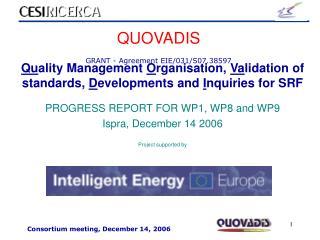 QUOVADIS GRANT - Agreement EIE/031/S07.38597