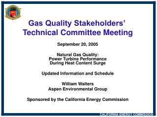 Gas Quality Stakeholders'  Technical Committee Meeting