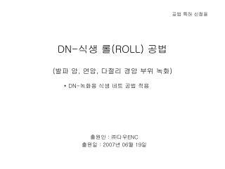 DN- 식생 롤 (ROLL)  공법 ( 발파 암 ,  연암 ,  다절리 경암 부위 녹화 )