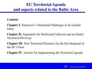 EU Territorial Agenda and aspects related to the Baltic Area