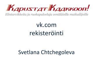 vk rekister�inti