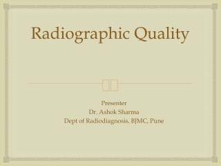 Screen-Film Radiography I