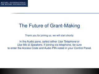 The Future of Grant-Making