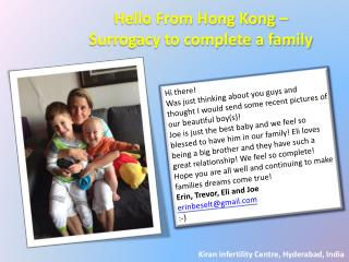 Hello From Hong Kong - Surrogacy to Complete a family