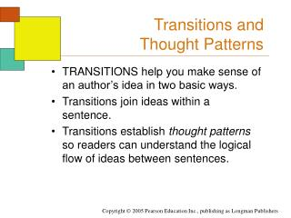 Transitions and  Thought Patterns