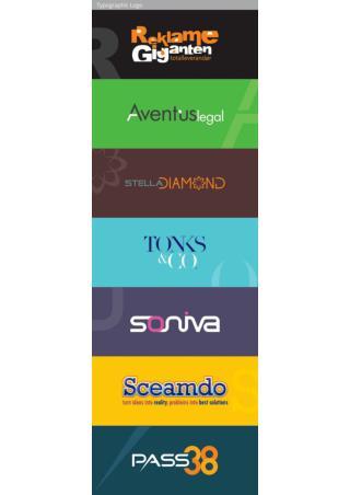 Typographic logo design portfolio