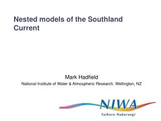 Nested models of the Southland Current