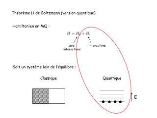 Théorème H de Boltzmann (version quantique)
