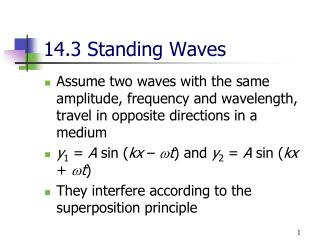 14.3 Standing Waves
