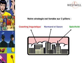 Notre strategie est fondée sur 3 piliers : Coaching linguistique Normand et Saxon Spécificité