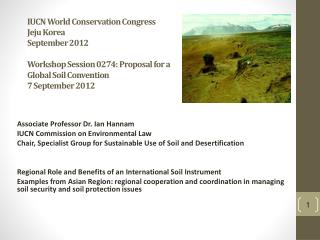 Associate Professor Dr. Ian Hannam IUCN Commission on Environmental Law