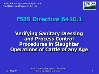 FSIS Directive 6410.1