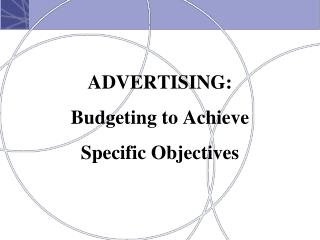 ADVERTISING: Budgeting to Achieve Specific Objectives