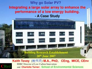 Building Research Establishment  20 th  June 2007