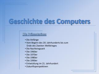 Geschichte des Computers