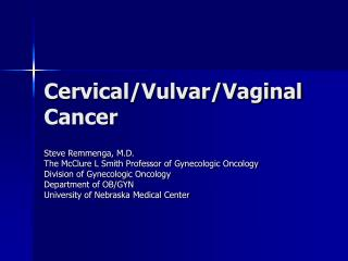 /Vaginal Cancer