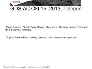 GDS AC Okt 15, 2013, Telecon