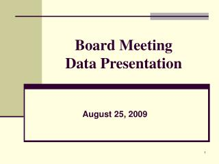 Board Meeting Data Presentation