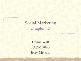 Social Marketing Chapter 13