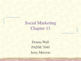 Social Marketing Chapter 13