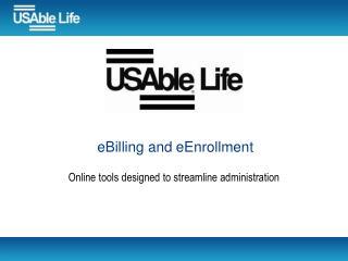 eBilling and eEnrollment