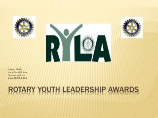 Rotary youth leadership  awardS
