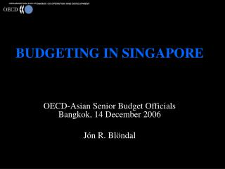 BUDGETING IN SINGAPORE