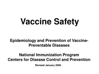 Vaccine Safety